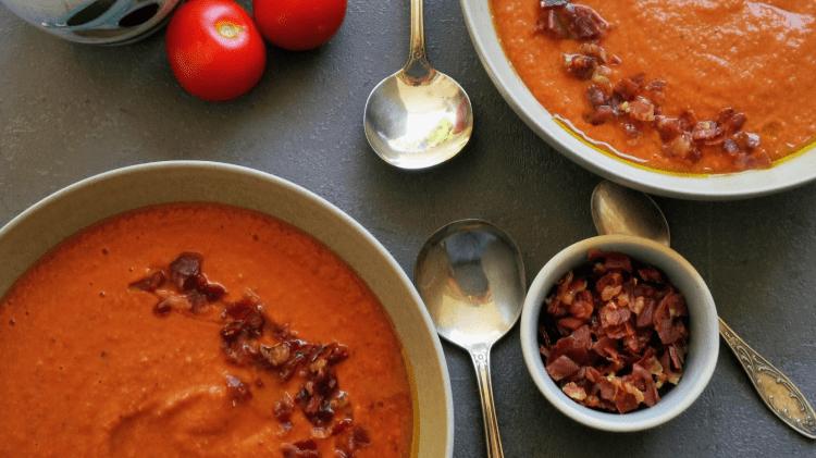 Kalte Tomatensuppe - Salmorejo Cordobes - die gehaltvolle Gazpacho