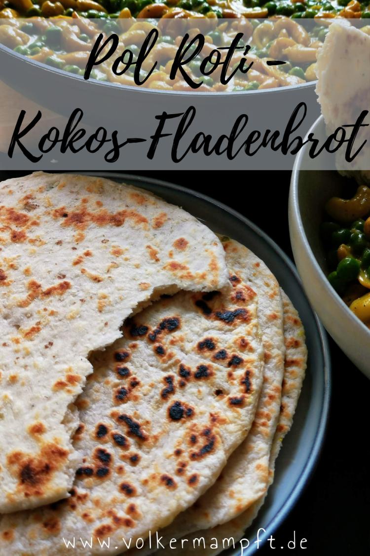 Pintererst - Kokos Fladenbrot mit Zwiebeln und Chili - Pol Roti - der Klassiker aus Sri Lanka