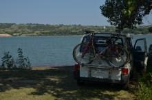 swim stop at the Missouri river