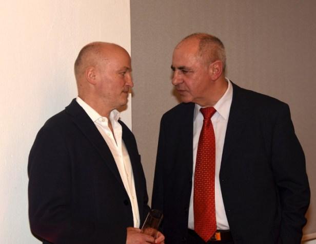 Volkmar Schöneburg und Siegfried Unger, Vorstandsvorsitzender Gesellschaft für Arbeit und Soziales e.V. (GefAS) <br />© Christoph Ulbricht