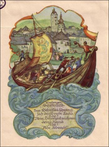 Wachauer Schifferlied – Das Schifflein schwingt si dani vom Land