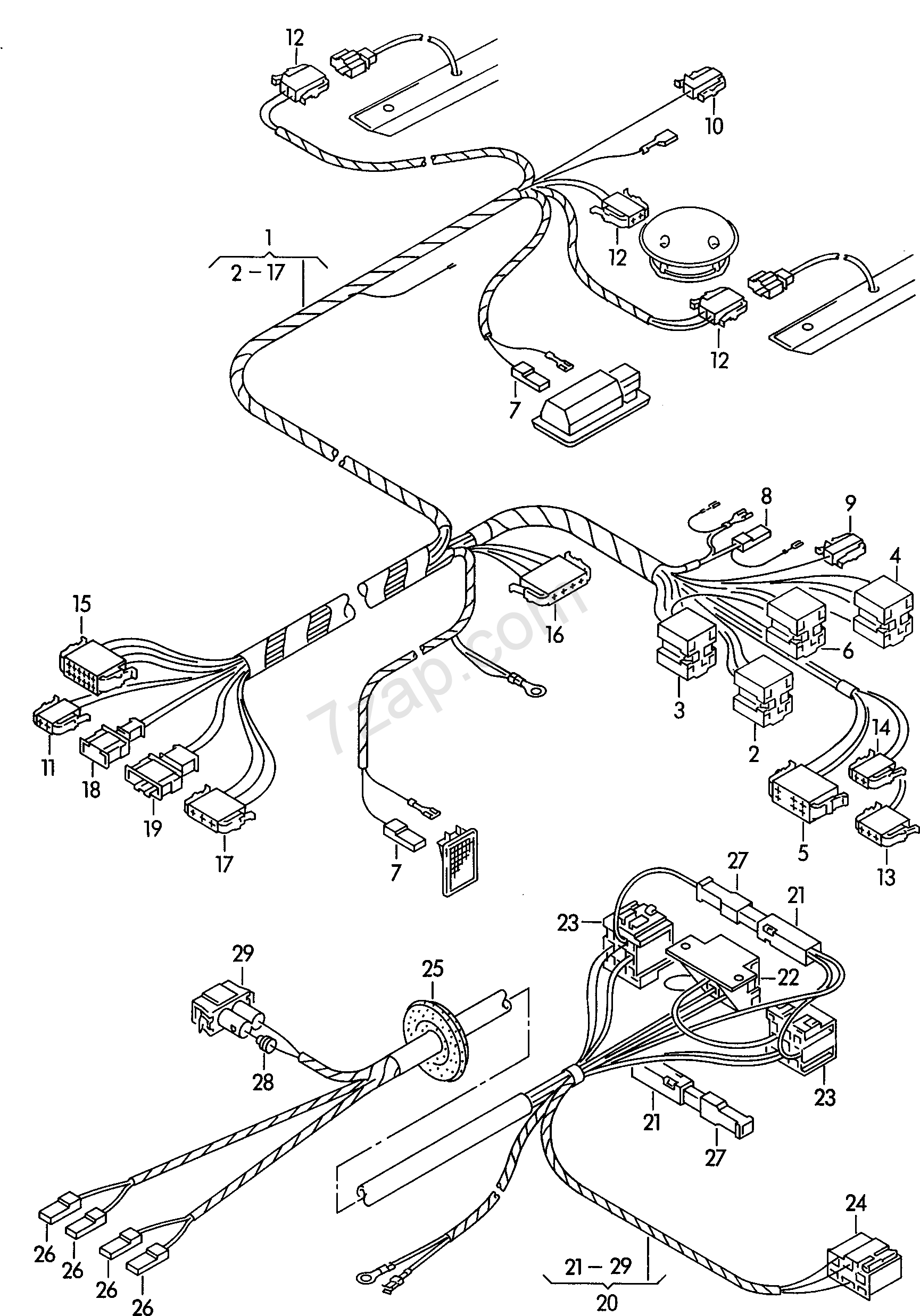 Wiring Harness For Stretcher Transporter Tr Year