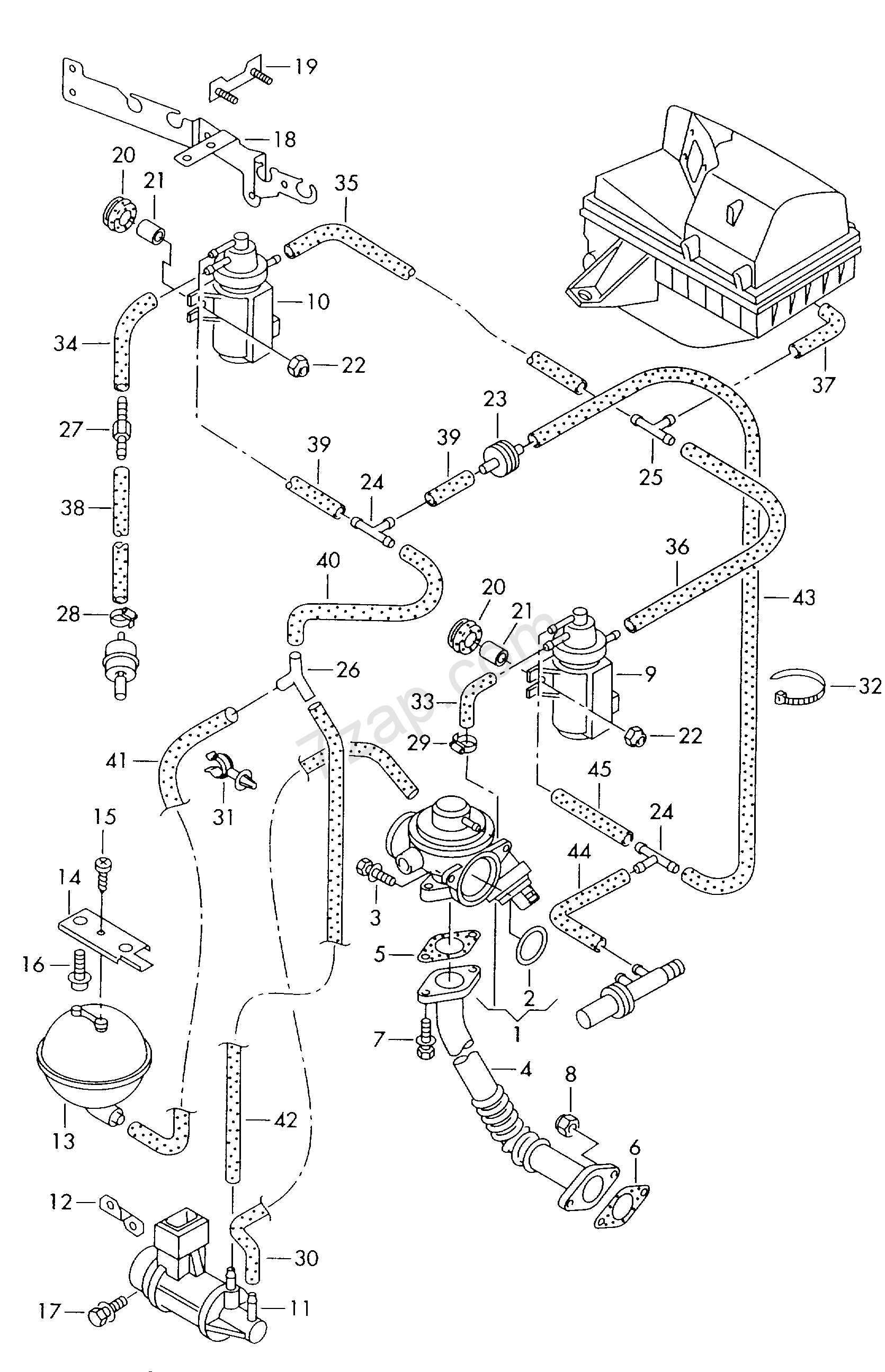 Exhaust Gas Recirculation Vacuum System Golf Variant