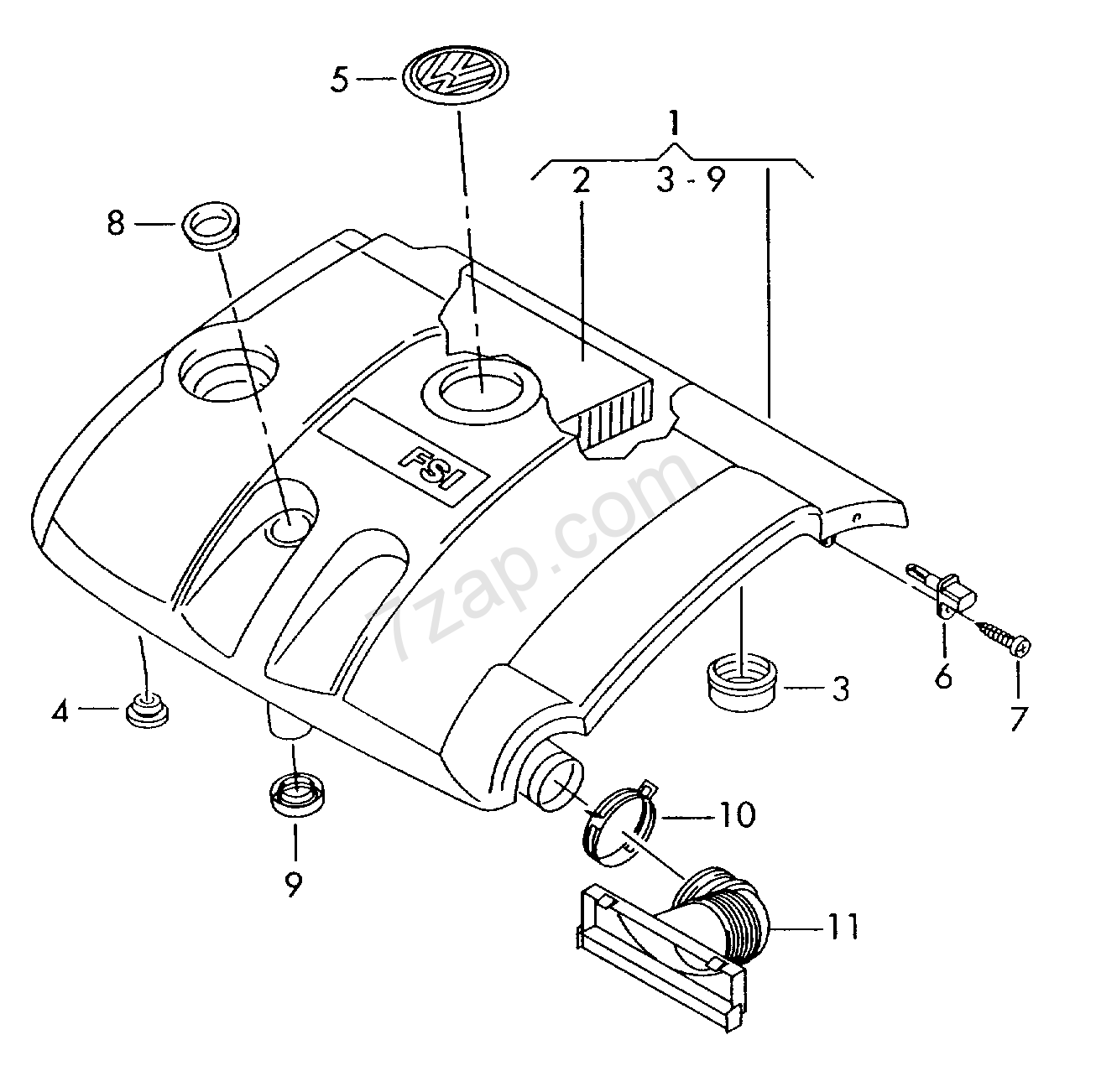 Air Filter With Connecting Parts Eos Eos Year