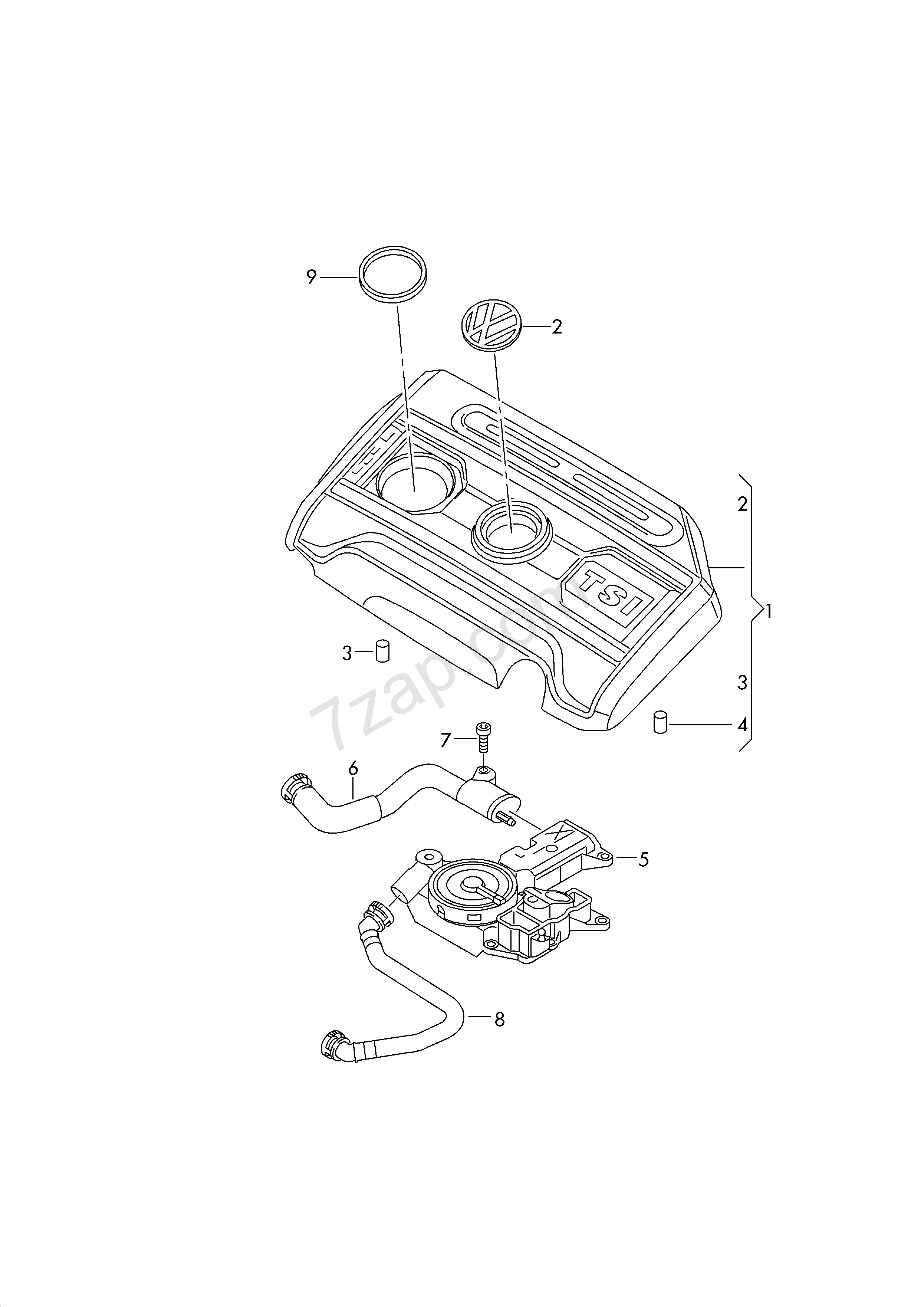 Cover For Engine Compartment Ventilation For Cyli