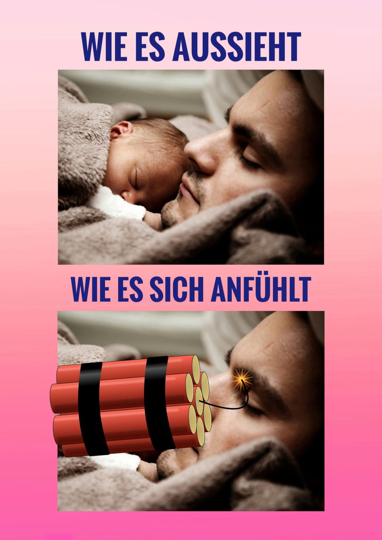 baby schläft lustiger spruch