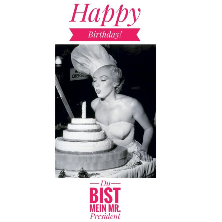 Männer, zum Geburtstag gratuliert euch immer Marilyn Monroe!🤤