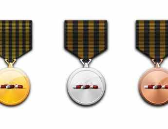 Medaillen mit Dopingpillen