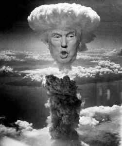 Trump als Atombombe