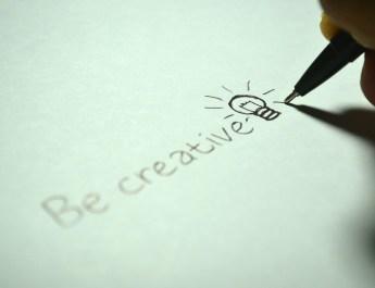 """Handschrift """"be creativ"""" und Füllfederhalter"""
