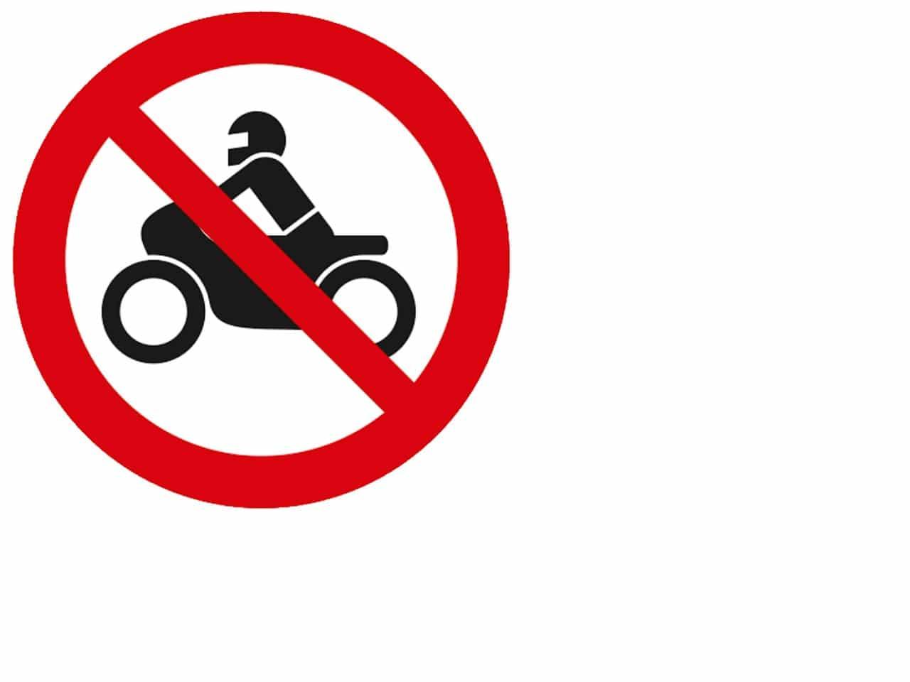 Motorrad verboten