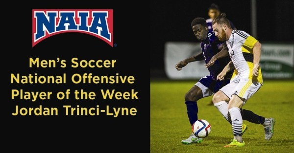 Trinci-Lyne Named NAIA Offensive Player of the Week - News