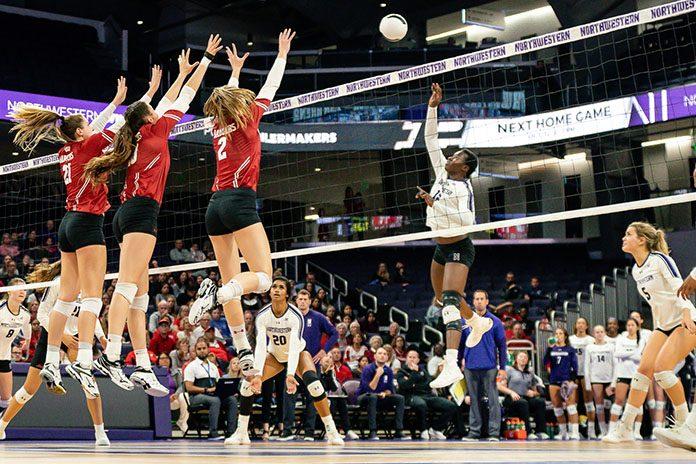 Volleyball Temi Thomas-Ailara-NCAA 10/10/2019-Northwestern volleyball
