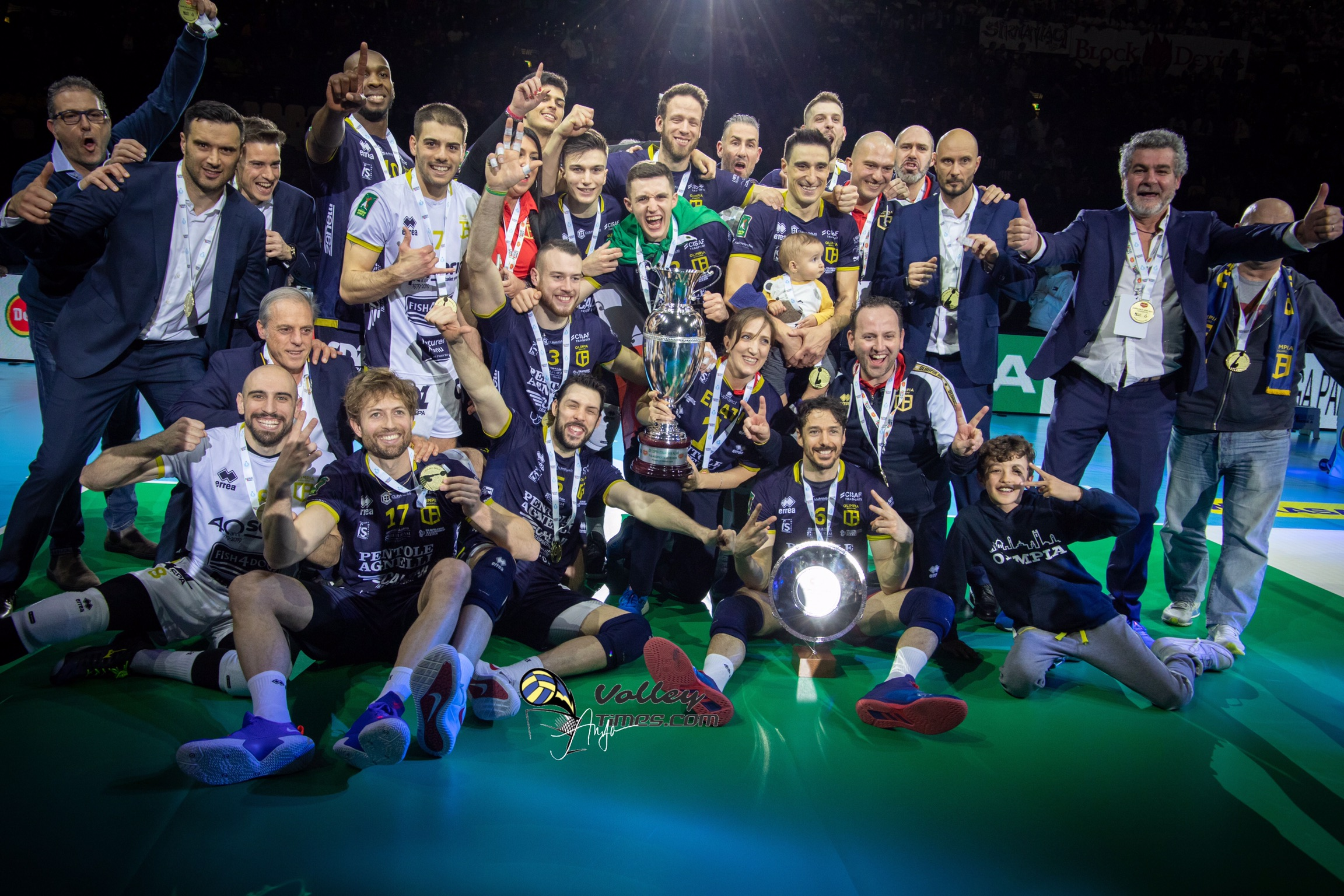 Italian Serie A2: Olimpia Bergamo wins first Italian Cup in history of the club.