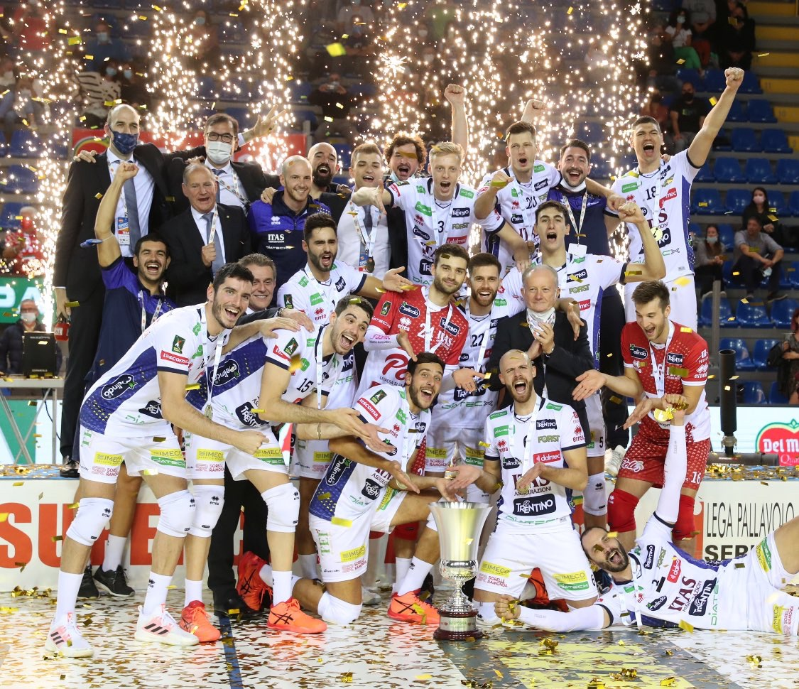 Italy SuperCup: the renewed Itas Trentino take trophy home by beating Monza in four sets, Kaziyski MVP