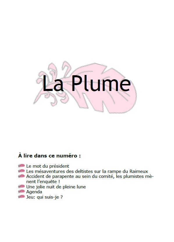 Plume 01 2012