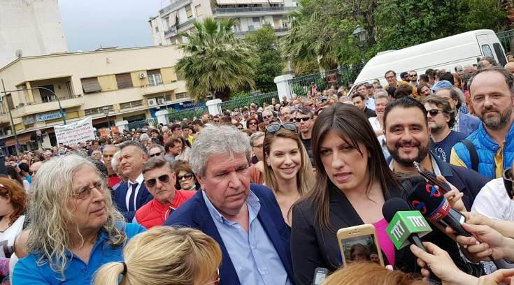 Στον Βόλο η Κωνσταντοπούλου και στο συλλαλητήριο κατά της ΑΓΕΤ!