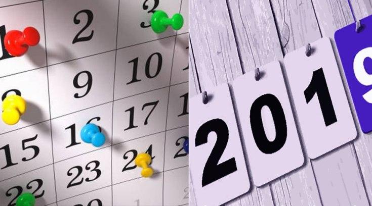 2019: Πότε πέφτουν οι Αργίες της νέας χρονιάς