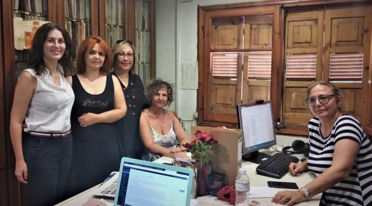 Με τους Εργαζόμενους της ΕΡΑ ΒΟΛΟΥ η Φωτεινή Κοκκινάκη