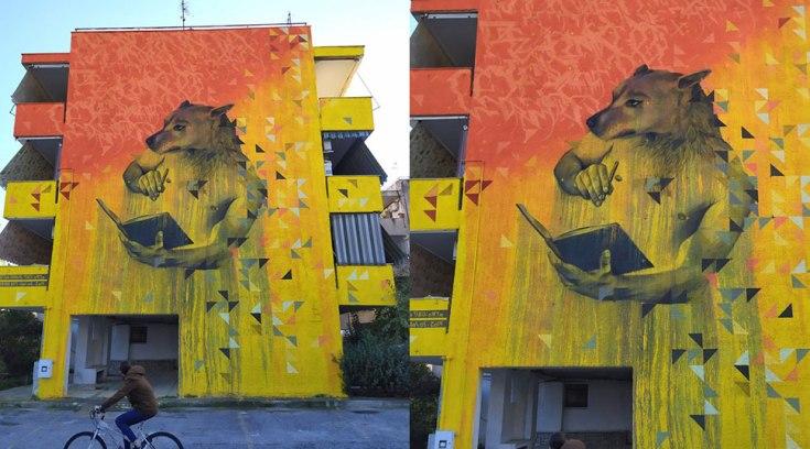 Το πιο υπέροχο γκράφιτι αφιερωμένο στα αδέσποτα έγινε σε κτίριο στο Βόλο
