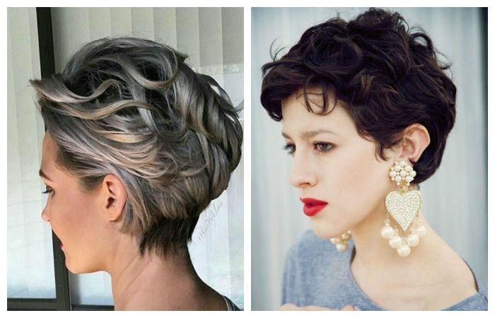 короткие стрижки фото женские на волнистые волосы