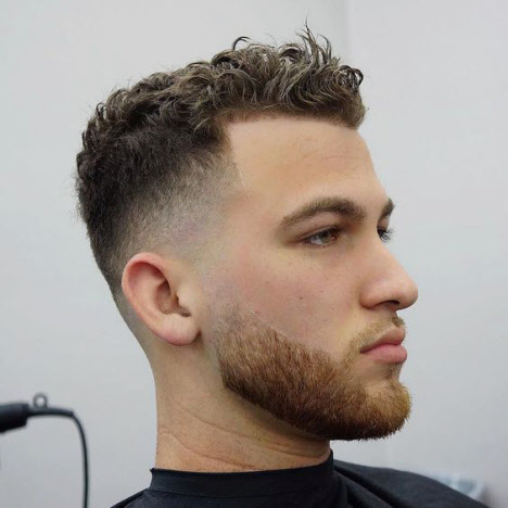 Men's haircut semi-box for curly hair
