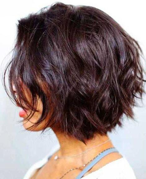 Красивая трижка каскад на короткие волосы