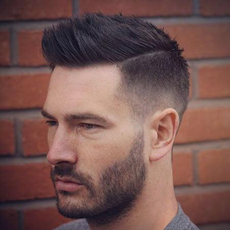 Haircut pompadour
