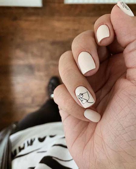 Fotografia de Stock Manicure bonita em unhas quadradas