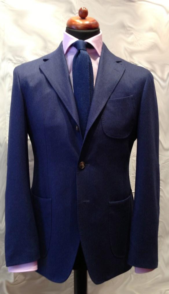 Mid Blue Flannel Suit