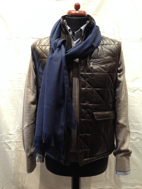 Brown Leather Gilet