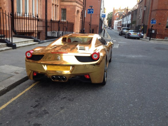 Gold Ferrari Back