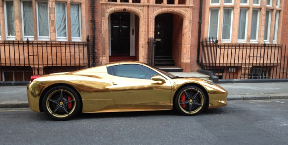 Gold Ferrari Side
