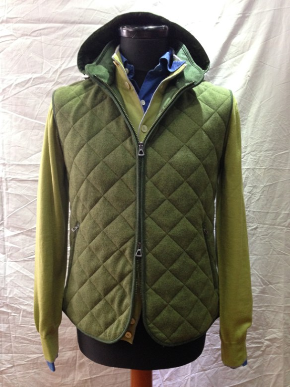 Green Gilet - with removable hood