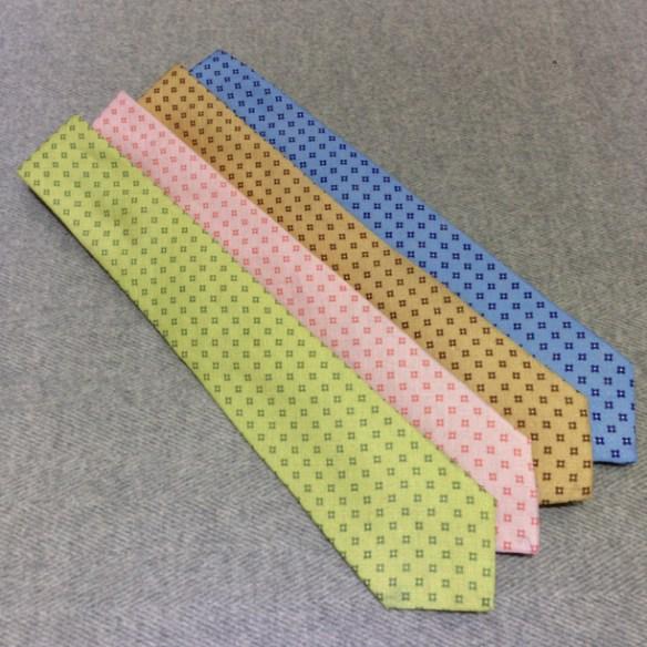 Linen patterned ties