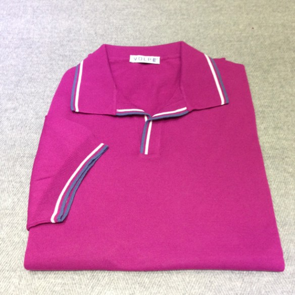 Light Purple cotton t-shirt with trim