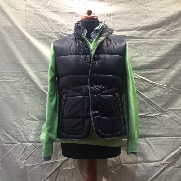 Navy Blue nylon microdown filled Gilet
