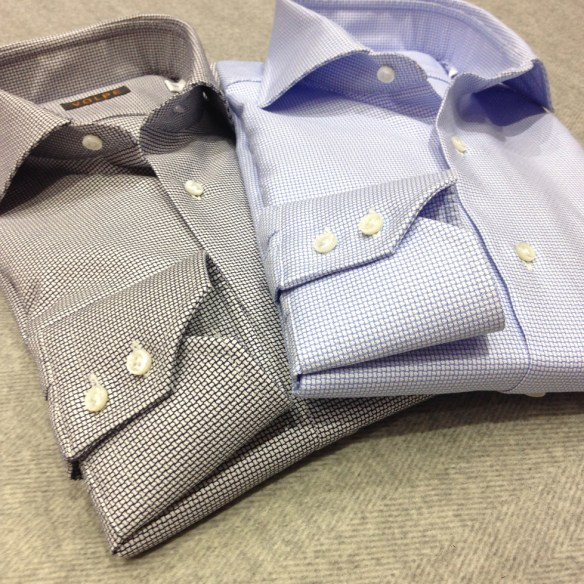 Dark Blue and Light Blue Patterned shirts
