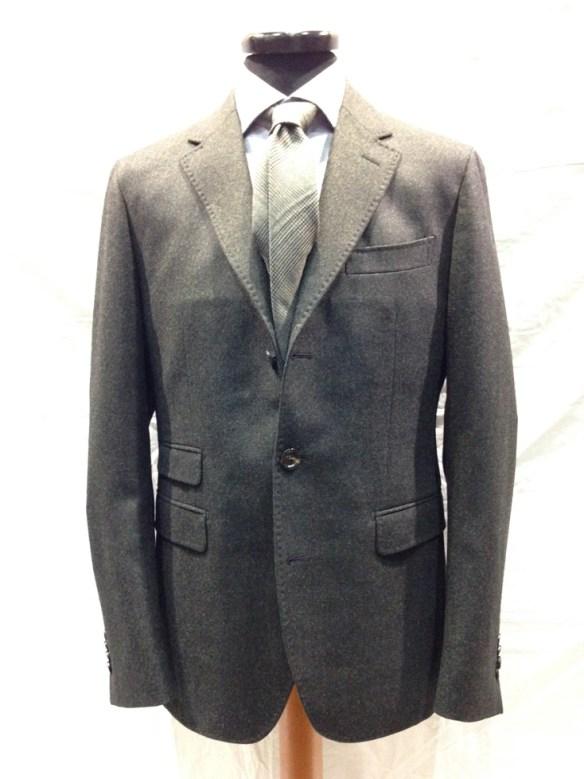 Unlined Dark Green Wool Jacket - Loro Piana Zealander