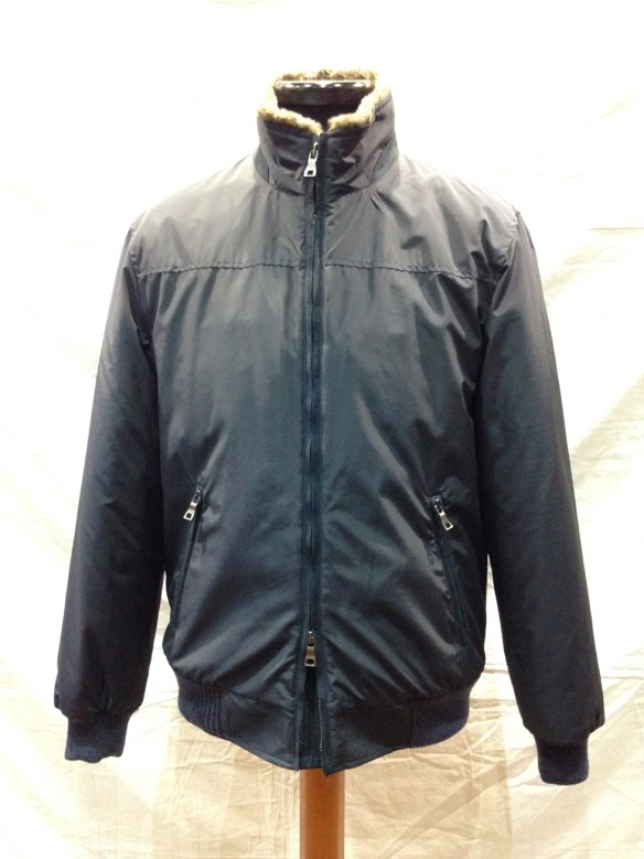 Loro Piana Rain System Blouson lined in Faux Fur