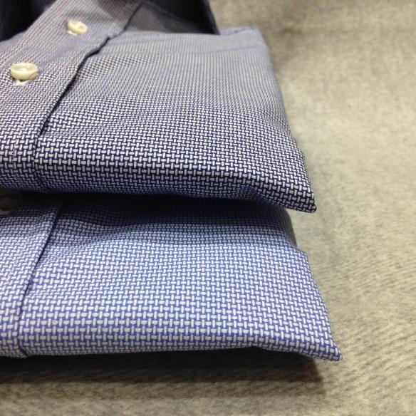Dark and Light Blue woven patterns