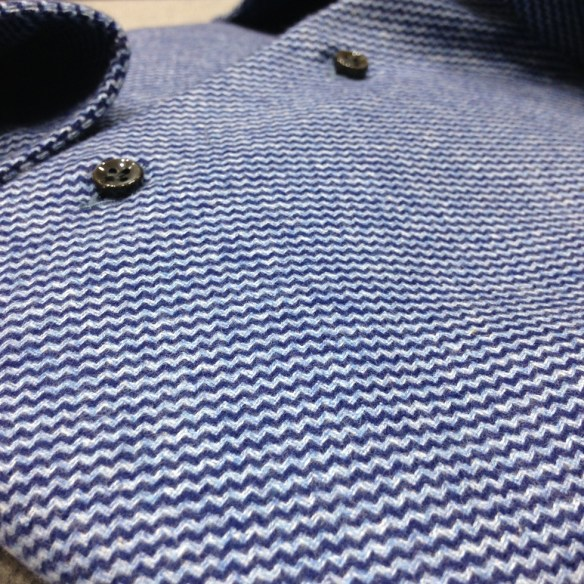 Dark and Light Blue Brushed Cotton