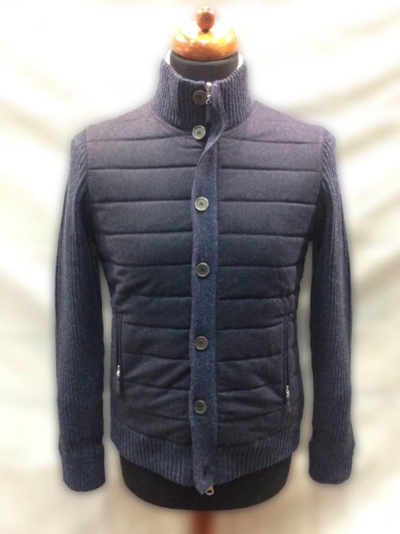 Blue Wool Blouson with Hollofil Lining