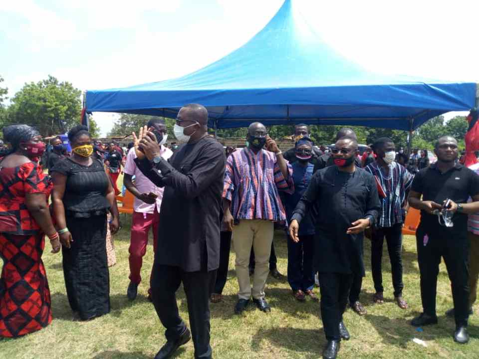 NDC National Chairman, Samuel Ofosu-Ampofo with other party functionaries at the fuenral