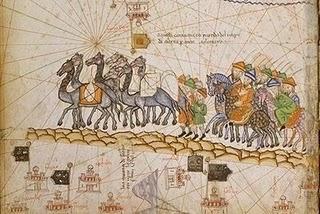 una caravana per la ruta del a seda