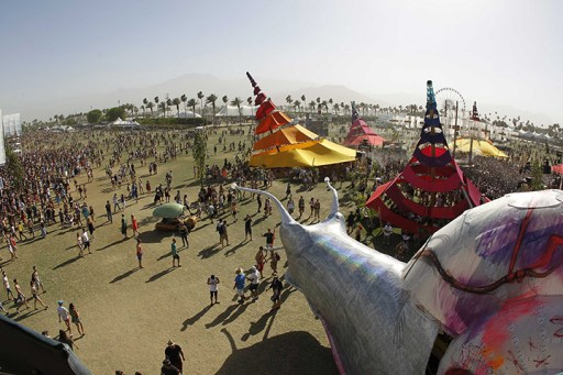 The view from on top of the giant snail mobile art piece