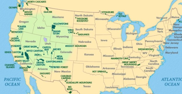 Parcs Nacional visitats Oest EEUU