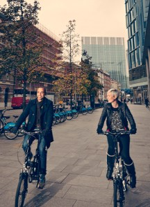 Cycling around the city on VOLT bikes