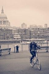 Cycling near St Pauls