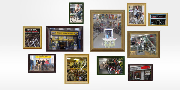 Photo Montage of bike shops